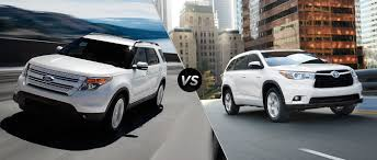 toyota highlander 2015 ford explorer vs 2015 toyota highlander