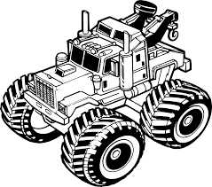 tow truck outline black and white png clipart download free