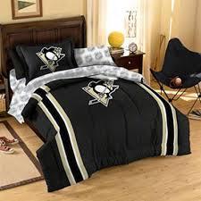 Penguin Comforter Sets Pittsburgh Penguins Black Five Piece Twin Bedding Set Pittsburgh