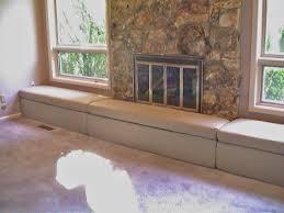 fireplace hearth seat and skirt u0027wheat u0027 our fireplace hearth