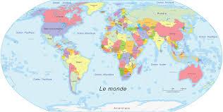 carte monde noir et blanc la carte du monde vue depuis différents pays