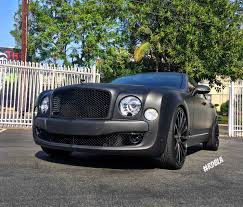 matte red bentley matte black bentley mulsanne tuned by rdb