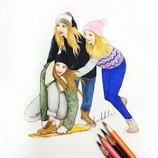 30 best friend drawings u2022 u2022 images on pinterest drawings