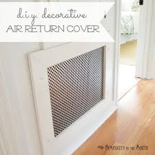 Decorative Return Air Grill How To Hide Household Eyesores Smart Home Decorating Ideas