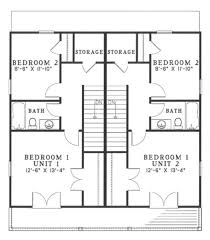 Corner Lot Duplex Plans Southern Style House Plan 2 Beds 1 50 Baths 1005 Sq Ft Plan 17 2270