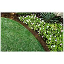 shop rubberific landscape border 8 ft brown landscape edging