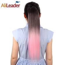 20 inch hair extensions alileader ombre pony hair extensions 20 inch