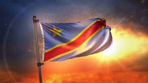 Dr Congo Flag Democratic Republic Of The Congo Flag Backlit At Beautiful Sunrise