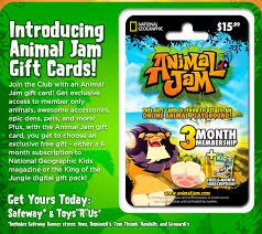 animaljam gift card animal jam flash membership gift card update