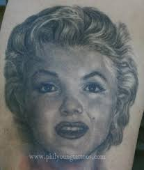 phil young hope gallery tattoos portrait marilyn monroe