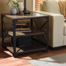 Industrial Accent Table Rustic Coffee Console Sofa U0026 End Tables Shop The Best Deals