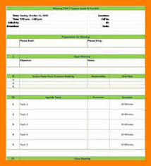 12 format for meeting minute pattern resume