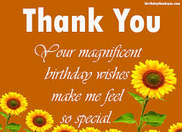 thanks message for birthday wishes thank you