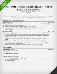 Customer Service Representative Resume Examples by Customer Service Resume Template
