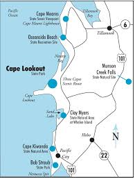 Map Of Oregon State Parks by Cape Lookout State Park Maplets