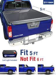 suzuki truck equator tyger tri fold pickup tonneau cover fits 05 15 nissan frontier 5