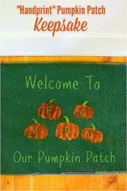 handprint pumpkin patch welcome mat keepsake craft