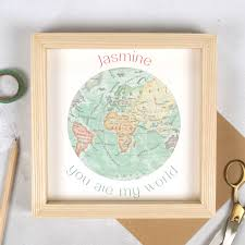 Framed World Map by You Are My World Map Heart Valentine U0027s Framed Print By Bombus