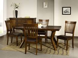 dining room wallpaper hd elegant long dark brown varnished teak