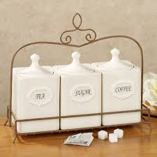 stunning decorative kitchen canisters sets with coffee themed