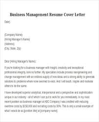 Business Resume Template Free Business Administration Cover Letter Free Samples Job Resume