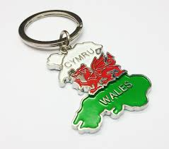 Map Of Wales Map Of Wales Metal Keyring Wk267 Celtic U0026 Welsh Giftstore