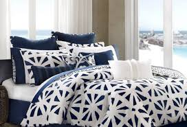 Navy Blue Bedding Set by Blue And White Bedding