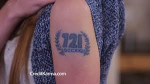 credit karma commercial actress tattoo credit karma tv commercial credit score tattoo ispot tv