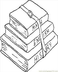 School Books Coloring Page Free School Coloring Pages Books Coloring Page