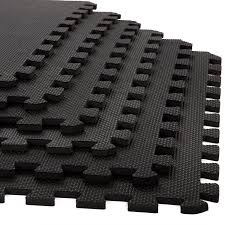 Norsk Interlocking Floor Mats by Stalwart 6 Pack Interlocking Eva Foam Floor Mats Black 24x24x0 375