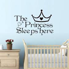 popular princess wall decal buy cheap princess wall decal lots the princess sleep here wall stickers for kids room wall decals home decoration accessories wall art