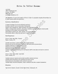 resume samples drive in teller resume sample 100 cover letter