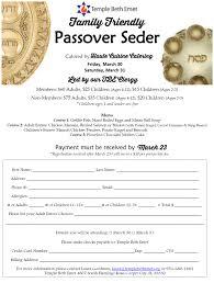 passover seder for children passover seder temple beth emet