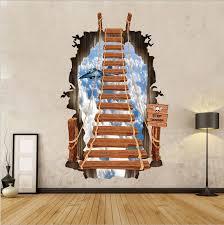 leiter f r treppe 60 90cm 3d treppe wandsticker flugzeug kreative wand aufkleber