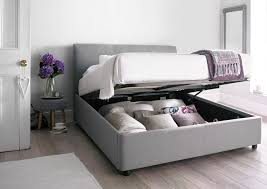 Grey Upholstered Ottoman Bed Furniture Serenity Upholstered Ottoman Storage Bed Cool Grey