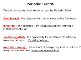 what ability did the periodic table have periodic trends ppt download
