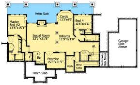 dual master bedroom floor plans cozy cottage with dual master suite 15792ge architectural