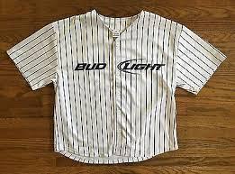 bud light baseball jersey bud light deadstock new embroidered beer promo button up baseball