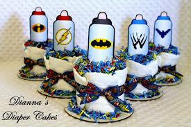 superhero wedding table decorations smart inspiration superhero centerpieces baby bottles mini diaper