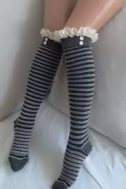 womens boot socks canada beige stripe socks boot socks leg warmers lace trim and button