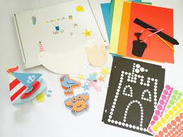 summer craft kit for kids including card summer dotty art beach