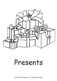 free christmas present coloring pages presents sheets printable
