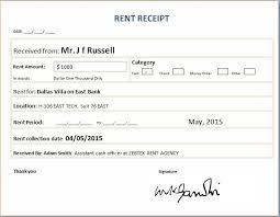 formal rent receipt template word u0026 excel templates