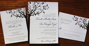 tree wedding invitations tree themed wedding invitations eggplant silver birds in