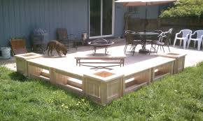 Wooden Patio Bench by Patio With Built In Planters And Benchesbench Design Plastic