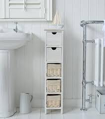Slim Bathroom Cabinet Slim Bathroom Cabinet Storage The White Lighthouse Bathroom
