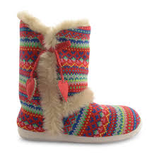 womens fur boots uk dunlop slipper boots faux fur lining winter knitted