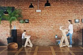 Industrial Standing Desk by New Wooden Standing Desk Is Scandinavian Inspired And Totally Cute