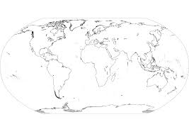 4 best images of printable map of continents black and white