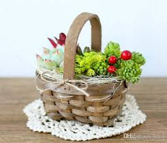 flower basket 2018 pack mini handmade basket wicker rattan vases pots home